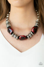 Colorfully Confident Red Necklace By: Paparazzi