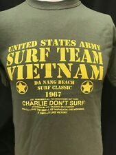 SURF TEAM VIETNAM -CHARLIE DON'T SURF US ARMY FILM MOVIE T SHIRT
