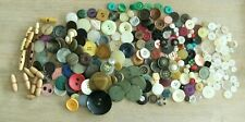 ~450g mixed flat back shank vintage buttons button art scrapbooking crafts used