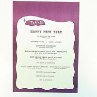 Vintage Hotel Trinidad New Year Restaurant Menu Specials