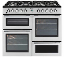Flavel MLN10FRS 100cm Dual Fuel Range Cooker - Silver