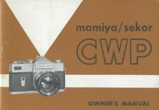 Mamiya Sekor Cwp Instruction Manual