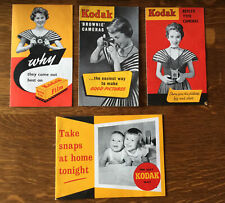 Vintage Film & Photo Ephemera. Kodak Photography Leaflets 1950s / 60s