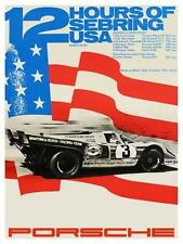Porsche ** LARGE POSTER **  1971 12 Hours of Sebring Elford Siffert Donohue 917