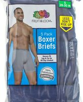 Fruit of the Loom Men's Short Leg Secure Fit Boxer Briefs Assorted Colors 5 pack