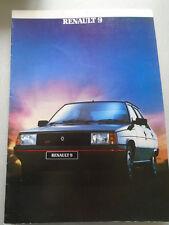 Renault 9 range brochure Sep 1984