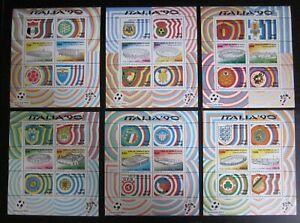 6 Blocs timbres Italie 1990 neufs ** Football - Bonne cote - Luxe