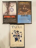 Jethro Tull Cassettes lot of 3 Crest of Knave Underwraps Songs from the Woods