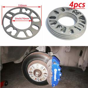 4x 5mm Auto Wheel Spacers Adaptor Shims Plates 4/5 Stud Alloy Aluminum Universal