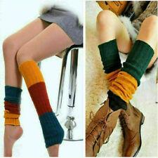 Womens Winter Warm Knit Crochet High Knee Leg Warmers Leggings Socks Slouch 2019