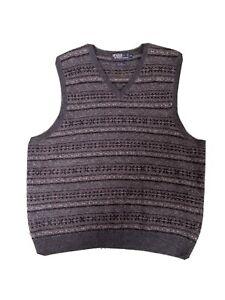 Vintage Polo Ralph Lauren Fair Isle Sweater Vest XL wool/alpaca/camel Blue Label
