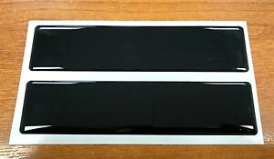 2 x BLACK Large Stickers 150mm HIGH GLOSS DOMED GEL - OTHER COLOURS AVAILABLE