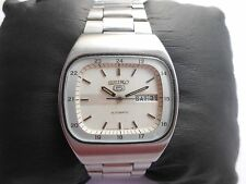 RARE VTG RAILWAY TIME 24 HOURS FORMAT SEIKO 5 SS CASE MENS AUTOMATIC WRISTWATCH