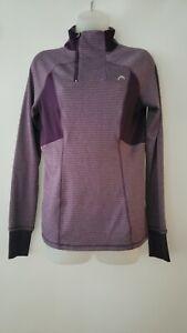 Head Women's Long Sleeve 1/4 Zip Up Pullover Ski Running Active Top Purple Sz XS