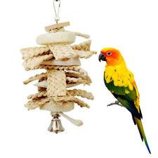 New listing Pet Bird Parrot Parakeet Cockatiel Cage Bite Hanging Loofah Cuttlebone Grass Toy