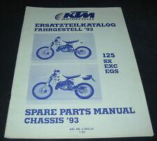 Ersatzteilkatalog KTM 125 SX / EXC / EGS Fahrgestell Spare Parts Manual 01/1993!