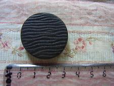 1 ancien bouton bois peint marron N09 diam 3cm VINTAGE 1 Old brown wood button