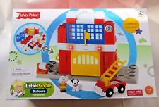Fisher-Price Little People Builders Fire Station Lights & Sounds Christmas Gift!