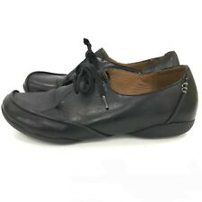 Clarks Lace Up Shoes Womens Size UK 6 Black Leather Comfort Everyday 301455