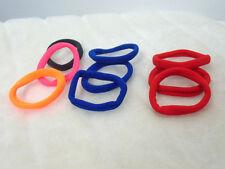 Lot de 9 élastiques à cheveux colorés couleurs rouge bleu orange rose gris