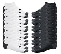 Champion Double Dry Performance Men's Black No-Show Socks 12-Pack (CH608A)