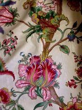 Rideau Ancien extrêmement rare Fleurs étrange  pierre frey braquenié 18eme