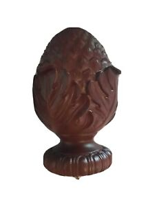"""Finial Cone or Ball by Kirsch Wood Oakleaf for  Curtain rods 2"""""""