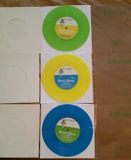 "Brian Wilson ""Wonderful"" 2004 UK Limited Colored Vinyl,3X7""45rpm +FREE 12"" LP!!!"
