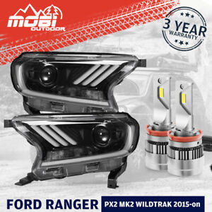 MOBI LED Projector Headlights For Ford Ranger PX2 PX3 Everest 2015-ON