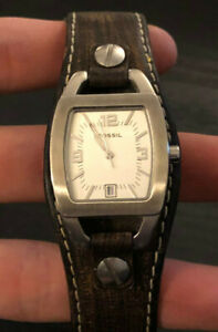 Fossil Women's Brown Leather Watch with Stainless Steel Case, Retro