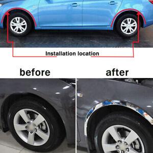 5M Silver Adjusted Car Wheel Rubber Eyebrow Protector Arch Trim Fender Strip