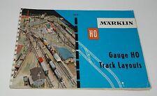 MÄRKLIN MARKLIN H0 : 0331 Manuale tracciati binari M buone cond. Eng. leng '59 +
