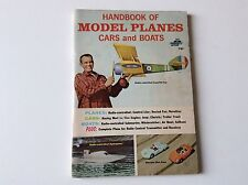 Handbook Of Model Planes Cars And Boats - Fawcett - 1965 Ads,Illustrations