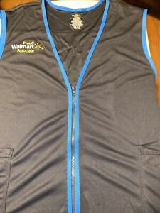 WAL-MART Blue Associate Employee Workwear Vest Sleeveless Size 2xl New