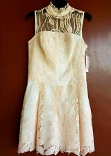 NEW NANETTE LEPORE BELLA DONNA SHEER PINK DRESS Sz 6 RETAIL $169.00