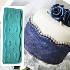 Kristen Lace Border Cake Silicone Mould Sugar Mold Fondant Baking Silicon Clay
