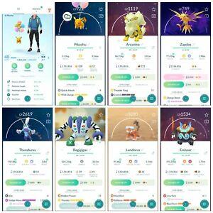 Pokémon Account Go Level 40 | 182 Shiny(Rare)| 113 Legendary(Rare)| 35,4*Pokemon