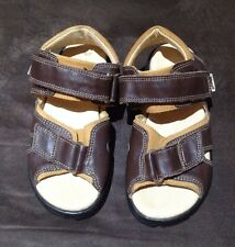 BARTEK boys brown leather velcro fastening sandals size 31 EUR (12.5 UK)