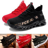 Kids Boys Girls Sports Athletic Running Shoes Lightweight Mesh School Trainers