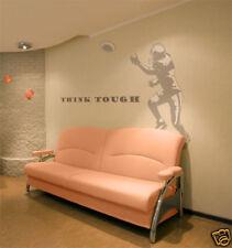 "Football Tackle Boys Kid Room Sports Wall Art Decal Gray Vinyl Sticker 29"" x 46"""