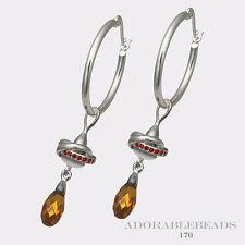 Authenitc Chamilia Sterling Silver Fancy Earrings     E