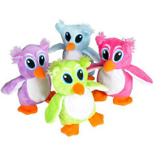 Generic Value Plush - SET OF 4 OWLS (Purple, Green, Blue, Pink) (5 inch) - New