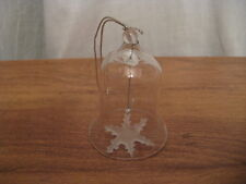 Clear Glass Bell W/ Frosted Star Clangor