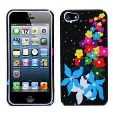 For Apple iPhone 5 5S SE HARD Protector Case Snap On Phone Cover Rainb