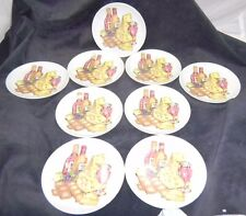 Shafford Cheese & Cracker Plates  Set of 9 Fine Porcelain Bread & Butter Exc!