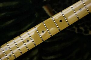 """Deluxe Maple Strat neck,25.5"""",22 fret,Jap style tinted Gloss,No skunk stripe EVH"""