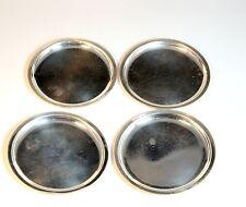 4x Design Wilkens Silber 835 Untersetzer silver trivet coasters 60er 70 vintage