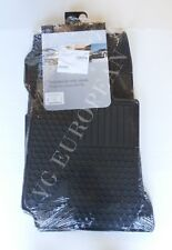 Mercedes-Benz W204 C-Class Sedan Genuine All Season Rubber Floor Mat Set BLACK