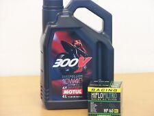 Motul Öl 300V 10W-40 / Racing - Ölfilter BMW K1200 GT R RS S Bj 05 - 08