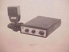 1977 HANDIC CB RADIO SERVICE SHOP MANUAL MODEL 605